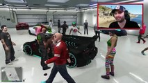 GTA 5 Funny Moments EXTREME Car Flipping | Massive Group Stunt Jump | GTA 5 Online Funny Montage