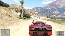 GTA 5 Online   Grand Theft Auto 5 Funny Moments   Crazy Lake Jump Race   GTA V Online
