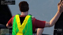 GTA 5 Stunts   Skydiving and Parachute Race   Grand Theft Auto 5 Funny Moments    GTA V Online