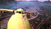GTA 5 Stunts | Jumping from Jumbo Jet to Jumbo Jet! | Grand Theft Auto 5 Glitches