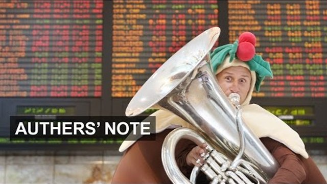 Six Charts of Christmas: Profits   Authers' Note