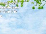 Lucrin  Étui housse pochette en cuir véritable pour Apple pencil  Naturel  Cuir Lisse