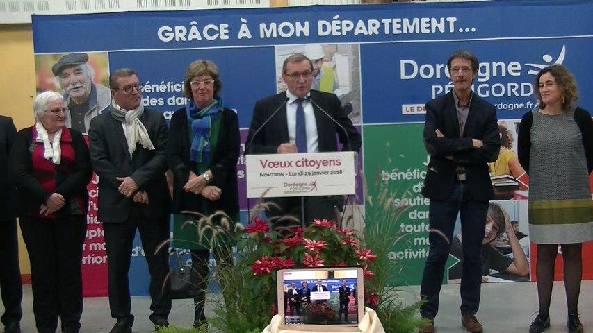 2018 01 29 Vœux de Germinal Peiro Président du conseil départemental de la Dordogne