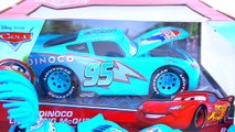 DISNEY CARS DINOCO LIGHTNING MCQUEEN THE KING PISTON CUP RACE HAULER HUGE DIECAST CAR TOY COLLECTION