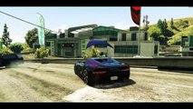 GTA 5 - UNE COURSE POURSUITE VRAIMENT INCROYABLE ! ROCKET CAR, PARACHUTE CAR, QUAD AQUA ETC