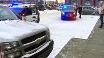 Un voleur bloqué dans un pick-up par des hommes qu'ils vient de voler !