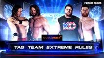WWE 2K18 AJ Styles And Shinsuke Nakamura Vs Kevin Owens And Sami Zayn Extreme Rules Match