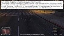 GTA 5 Online - Easy GTA$ Money & Rare Exclusive T-Shirts Bonuses! (GTA 5 Freemode Events Update)
