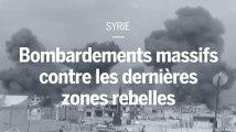 Syrie : intenses bombardements sur les dernières zones rebelles