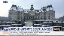 Les images du château de Vaux-le-Vicomte sous la neige