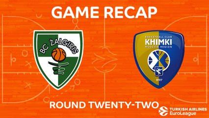 EuroLeague 2017-18 Highlights Regular Season Round 22 video: Zalgiris 74-84 Khimki