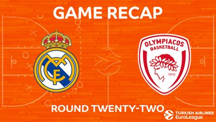 EuroLeague 2017-18 Highlights Regular Season Round 22 video: Madrid 79-80 Olympiacos