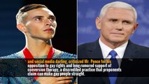 Mike Pence Tangles With Olympian Adam Rippon Over Gay Rights Record