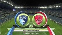 Résumé de HAC - Brest (1-0) du 09/02/2018