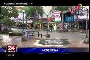Argentina: fuerte temporal de lluvia y granizo azota Córdoba