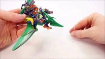 Nexo Knights Jurassic Dino-Raptor Riders & Gyrosphere Escape Unofficial Lego Set