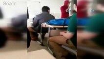 Sınıfta skandal görüntüler