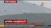 Afrin Sınırında Atak helikopteri düştü, 2 şehidimiz var