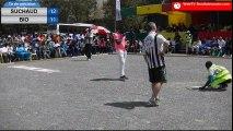International de pétanque à Saly, Sénégal : Tir de précision, finale Suchaud vs Bio