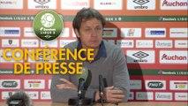 Conférence de presse RC Lens - Valenciennes FC (1-1) : Eric SIKORA (RCL) - Réginald RAY (VAFC) - 2017/2018