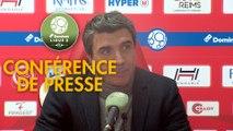 Conférence de presse Stade de Reims - FC Sochaux-Montbéliard (3-0) : David GUION (REIMS) - Peter ZEIDLER (FCSM) - 2017/2018