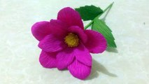 How To Make Hibiscus Crepe Paper Flowers Flower Making Of Crepe