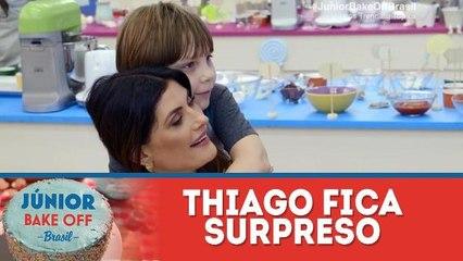 Thiago fica surpreso