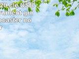 818TEch No31800020064 HiSpeed 20 clé USB 64Go instrument guitare Stratocaster noir