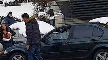 Şoferul cu BMW de la Botoșani care a bătut un bărbat și i-a distrus mașina a fost prins și reţinut de Poliţie