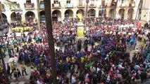 Protesta després de la Guerra de Caramels en el Diumenge de Carnaval a Vilanova i la Geltrú