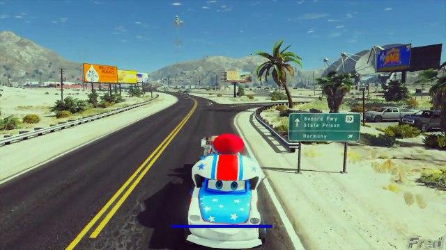 Tow Mater Helping Rocket Mater Transportation (GTA 5 Disney Cars)