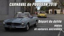 """Carnaval de Poussan 2018 : Départ du défilé des motos et des voitures anciennes   2' 30"""""""