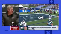 """Doug Pederson on Carson Wentz, """"It's a torn ACL... I hate this for Carson"""" 