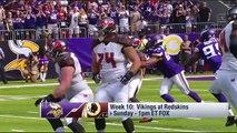 Minnesota Vikings vs. Washington Redskins | NFL Week 10 Game Preview | NFL Playbook