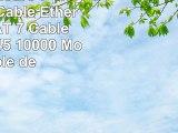 50m  7 couleurs  7 pièces  CAT7 Câble Ethernet  Set   CAT 7 Câble Réseau RJ45