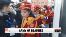 North Korean cheering squad to make first outdoor appearance at women's alpine ski event