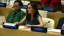 Canan Dağdeviren'in Birleşmiş Milletler Oturumunda Yaptığı Konuşma