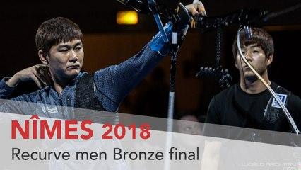 Han Jaeyeop v Kim Jae Hyeong – Recurve Men's Bronze Final | Nimes 2018
