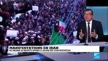"Manifestations en Iran: Hassan Rohani ""est sur la corde raide"""