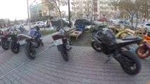 Isparta'daki Motosiklet Tutkunlarından Şehitlere Saygı Korteji