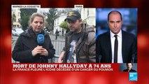 Mort de Johnny Hallyday : les fans du chanteur affluent à Marnes-la-Coquette