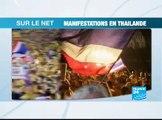 Les protestations en Thaïlande mobilisent la Toile