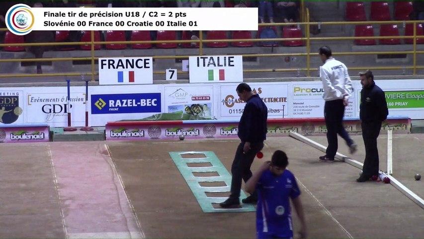 Finale tir de précision U18, Euro Jeunes, Saint-Vulbas 2018