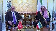 Dışişleri Bakanı Çavuşoğlu, Kuveyt ve Iraklı mevkidaşları ile görüştü - KUVEYT