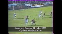 20/07/91 : Cyrille L'Helgoualc'h (71') : Auxerre - Rennes (3-1)