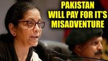 Nirmala Sitharaman on Sunjuwan attack says 'Pakistan will pay for its misadventure'   Oneindia News