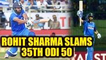 India vs South Africa 5th ODI : Rohit Sharma hits 35th ODI fifty | Oneindia News