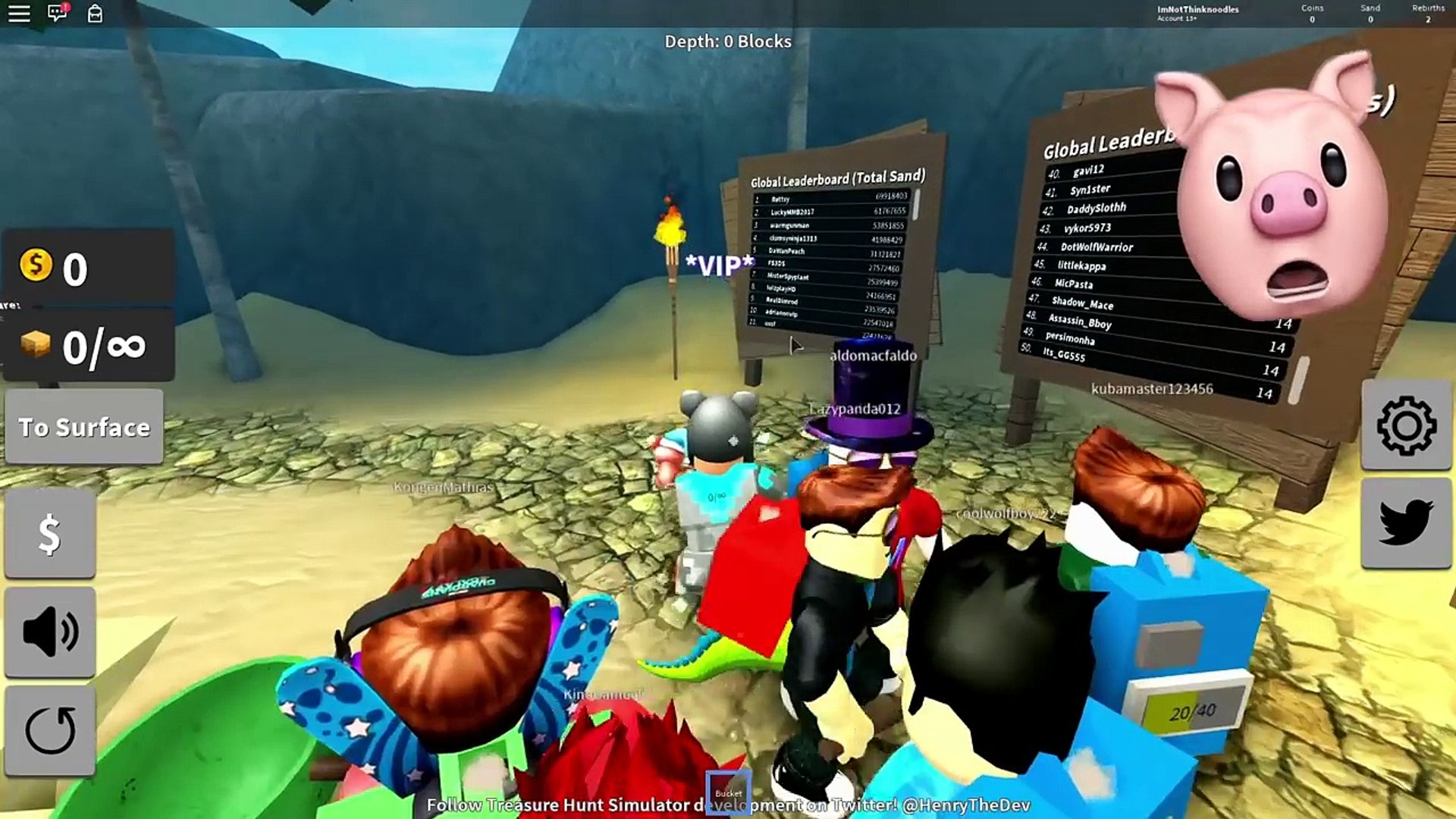 I Dug Through The Bottom 7500 Blocks Roblox Treasure Hunt