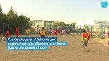 Sous le ballon, la plage en Afghanistan