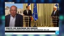 """Macron à Athènes : """"les Grecs continuent à souffrir"""""""